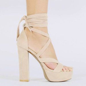 *NWT* Public Desire Stella Lace Up Heels Size 7